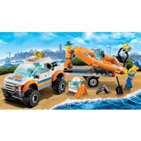 LEGO City : les gardes-côtes - le conducteur du 4x4