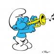 Schtroumpf musicien