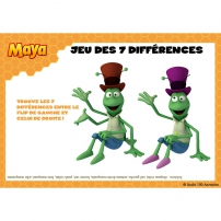 Jeu des 7 différences Maya l'Abeille