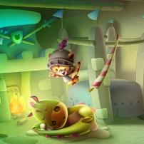 Percy et ses amis - chambre de Percy à  Percyval
