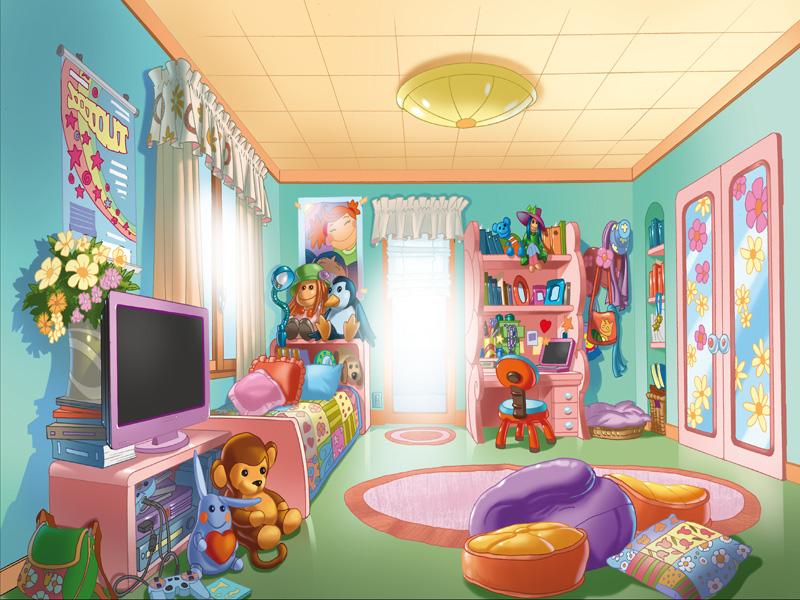 chambre fille dessin la chambre et les jouets images puppy in my pocket dessins - Dessin De Chambre