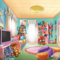 La chambre et les jouets