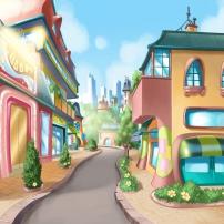 Une rue dans la ville