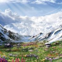 Les Alpes aux printemps