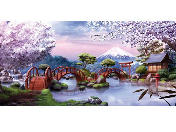 Un jardin japonais images redakai dessins anim s for Jardin japonais dessin