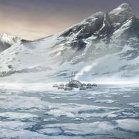 Un village inuit dans le grand nord