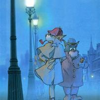 Sherlock et Watson dans la rue