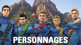 Les personnages de Thunderbirds