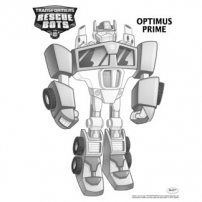 Transformers Rescue Bots: Mission Protection! - Coloriages Optimus