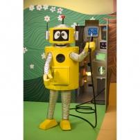 Un robot branché