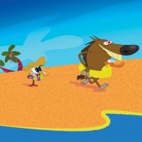 Zig et Sharko - Zig et Bernie se jettent à l'eau