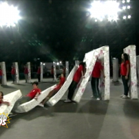 Le plus long domino humain