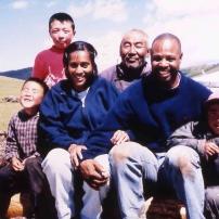 Une famille en Mongolie