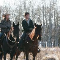 Amy et Ty avec leurs chevaux