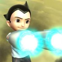 Astro Boy teste ses bras laser
