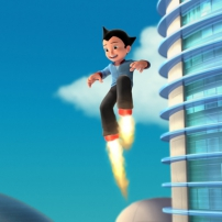 Astro Boy teste ses pieds fusée