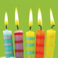 5 bougies à souffler