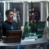 Iron Man dans son laboratoire