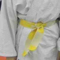 Ceinture blanche jaune