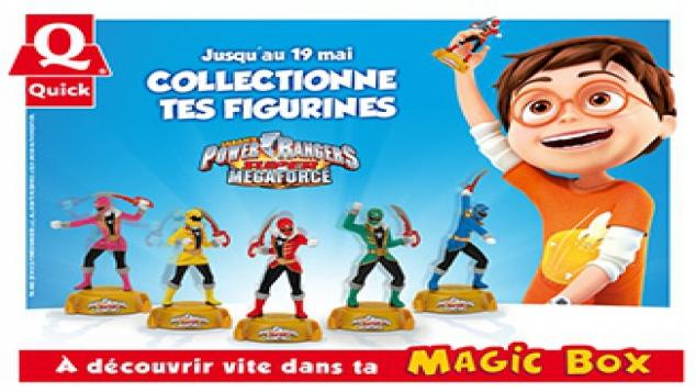 Les Power Rangers Super Megaforce débarquent dans ton Quick !