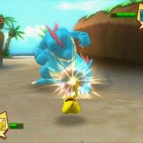 Pikachu affronte un Pokémon