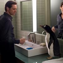 Le pingouin dans la salle de bain