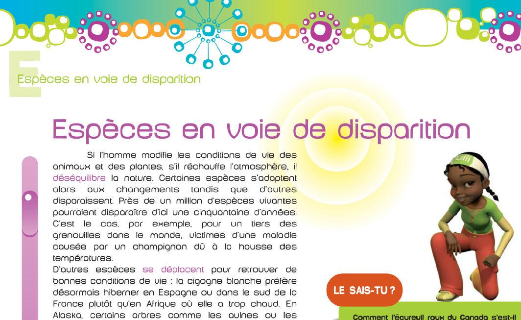 Assez Espèces en voie de disparition - Téléchargement - L'écolo Dico de OY65