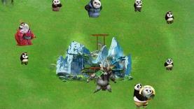 Le défenseur du village des pandas
