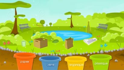 Ramasse et trie les ordures