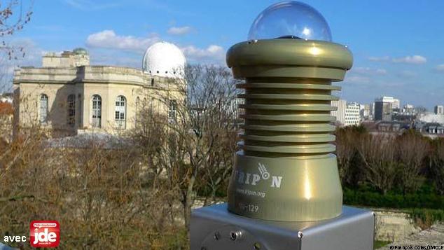 Une caméra Fripon sur le toit de l'Observatoire de Paris.