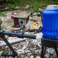 Pompe pour filtrer l'eau de la rivière