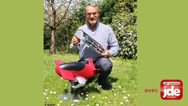 Michel Aguilar et son prototype de voiture volante Xplorair