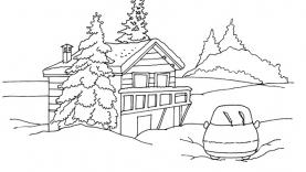 Gulli au Ski - Coloriages