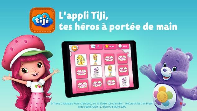 L'appli TiJi, idéale pour les tout-petits, est disponible en téléchargement