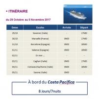 Itinéraire - Croisière Gulli.