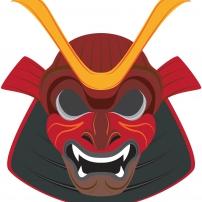 Vive le Carnaval ! - Masque de Samouraï