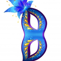Vive le Carnaval ! - Masque fleuri