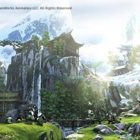 Caché dans les montagnes Kung fu panda 3