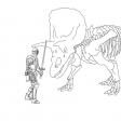 Coloriage Tricératops