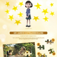 Les exercices de calcul et le puzzle du cahier d'activités du Petit Prince