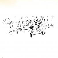 Le 2e jeu des points à relier du cahier d'activités du Petit Prince