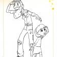 Coloriages du Petit Prince : l'aviateur et la petite fille