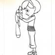 Coloriages du Petit Prince : la petite fille et le renard