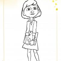 Coloriages du Petit Prince : la petite fille
