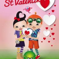 Carte de Saint Valentin Pop & Corn