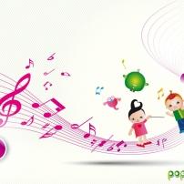 """Fond d'écran Pop & Corn """"En avant la musique"""" 768x1024"""