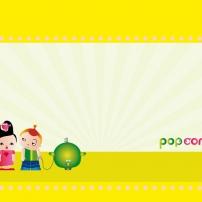 "Fond d'écran Pop & Corn ""Plein Soleil"" 768x1024"
