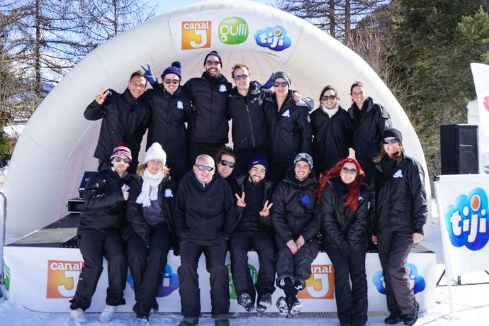 équipe Kids à la neige