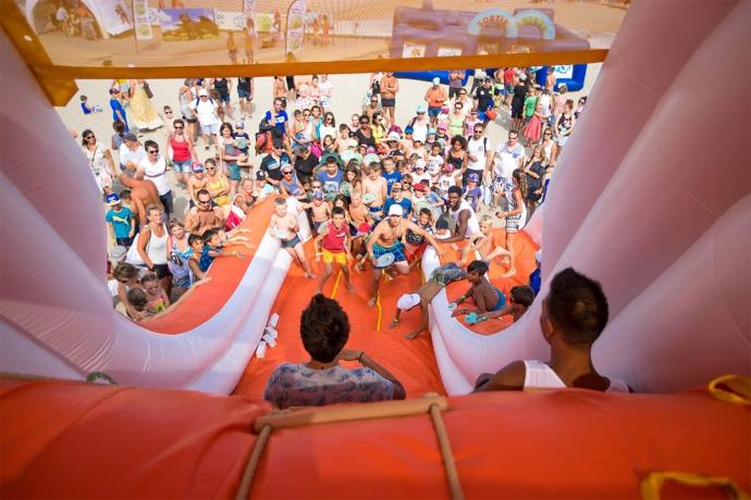 kids à la plage 2018, toboggan Canal J