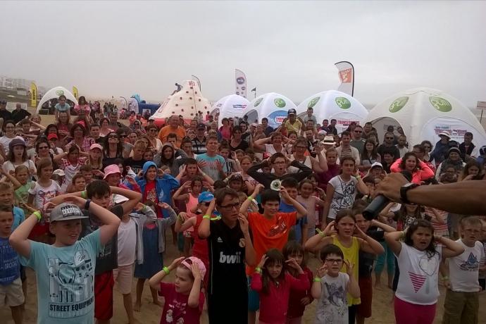 Cours de danse sur les Kids à la plage